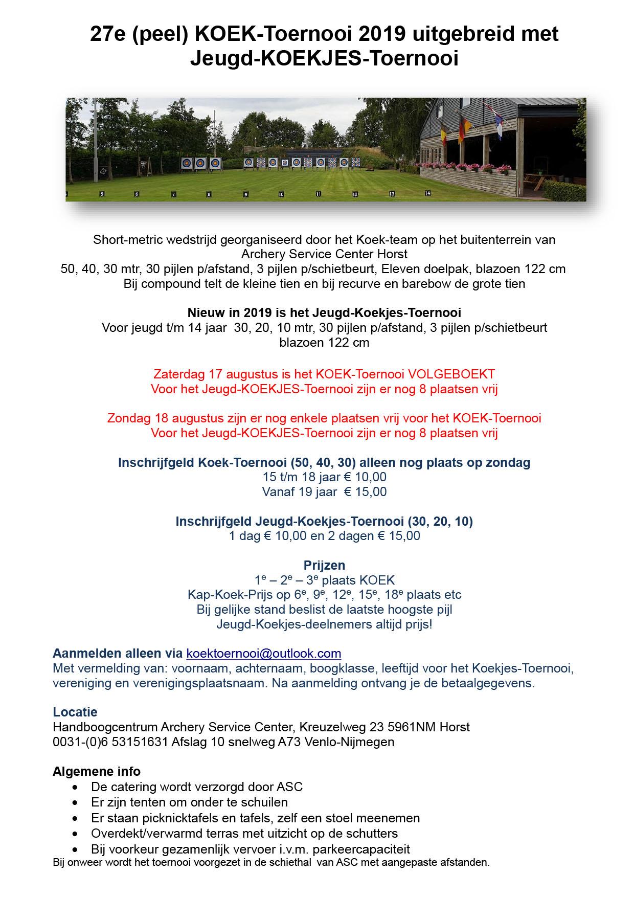 Koek en Koekjes toernooi 29 07 2019