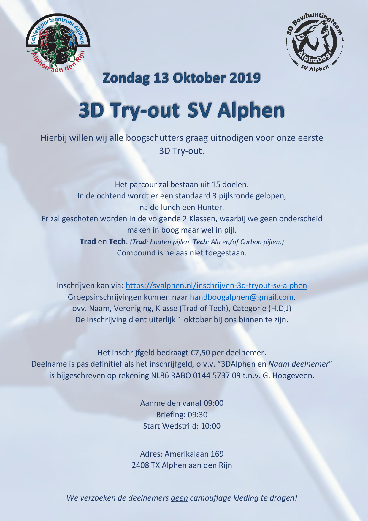 3D TryOut 13-10-2019